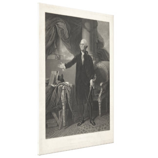 GEORGE WASHINGTON Portrait by Henry S. Sadd Canvas Prints