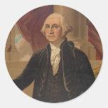 George Washington Portrait Classic Round Sticker