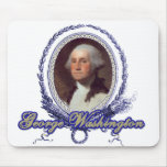 George Washington Portrait in Engraved Frame Mouse Pad
