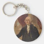 George Washington Portrait Key Chain