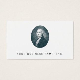 George Washington Portrait Oval Business Card