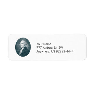 George Washington Portrait Oval Label