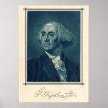 George Washington Portrait & Signature Print