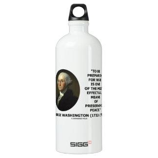 George Washington Preparing For War Peace Quote Aluminum Water Bottle