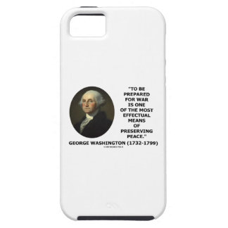 George Washington Preparing For War Peace Quote iPhone 5 Cover