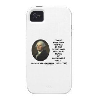 George Washington Preparing For War Peace Quote iPhone 4/4S Case