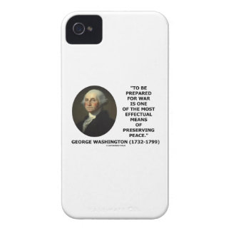 George Washington Preparing For War Peace Quote Case-Mate iPhone 4 Case