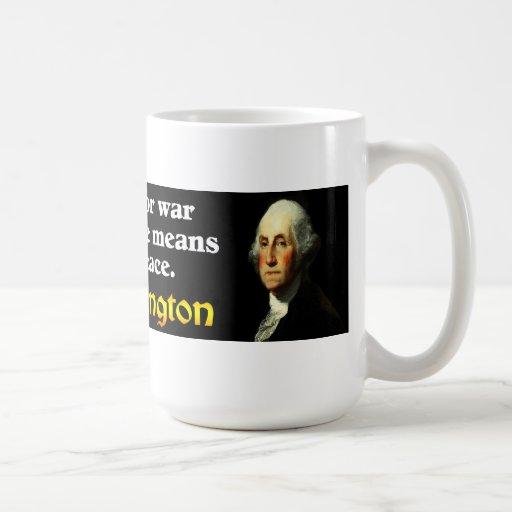 George Washington: Preservar paz Tazas De Café