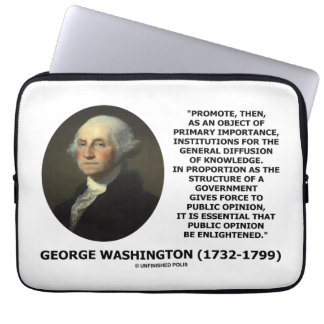 George Washington Promote Diffusion Of Knowledge Computer Sleeve