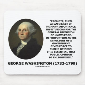 George Washington Promote Diffusion Of Knowledge Mousepads