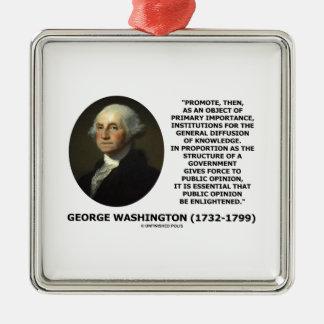George Washington Promote Diffusion Of Knowledge Christmas Ornaments