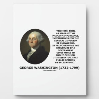 George Washington Promote Diffusion Of Knowledge Plaque