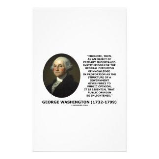 George Washington Promote Diffusion Of Knowledge Stationery
