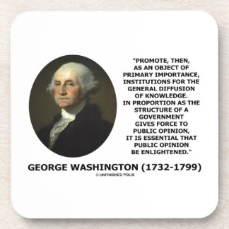 George Washington promueve la difusión del conocim Posavasos