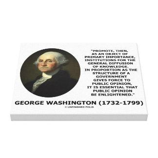 George Washington promueve la difusión del Impresiones En Lienzo Estiradas