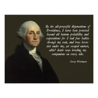 George Washington Providence Quote Poster