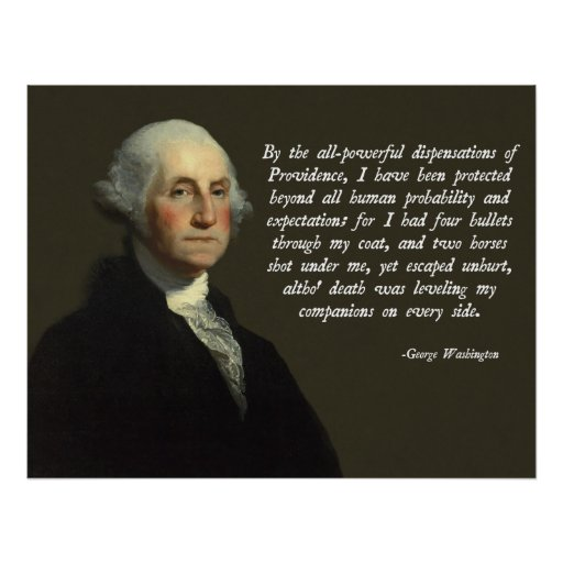 George Washington Providence Quote Posters