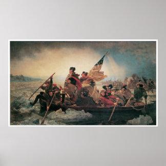 George Washington que cruza el Delaware Posters