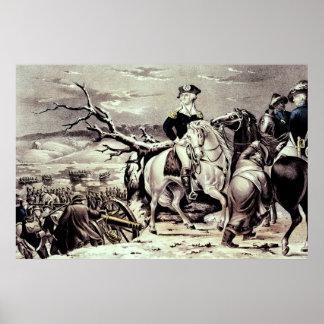 George Washington que cruza el Delaware Póster