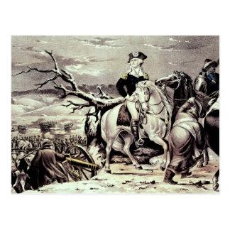 George Washington que cruza el Delaware Tarjeta Postal