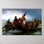 George Washington que cruza el río Delaware 1851 Poster