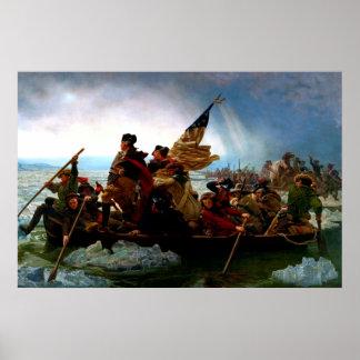 George Washington que cruza el río Delaware 1851 Póster