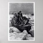George Washington que cruza el río Delaware Posters