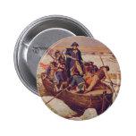 George Washington que cruza el río Delaware Pin