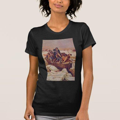 George Washington que cruza el río Delaware Camisetas