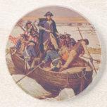 George Washington que cruza el río Delaware Posavasos Diseño