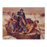 George Washington que cruza el río Delaware Postales