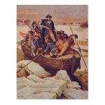 George Washington que cruza el río Delaware Tarjeta Postal
