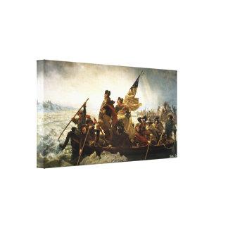 George Washington que cruza la impresión de Delawa Lienzo Envuelto Para Galerias