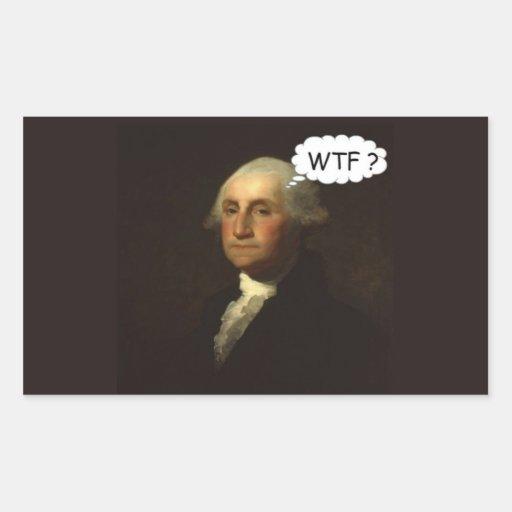 George Washington que hace girar en su sepulcro Pegatina Rectangular