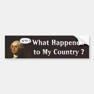 George Washington que hace girar en su sepulcro Pegatina Para Auto