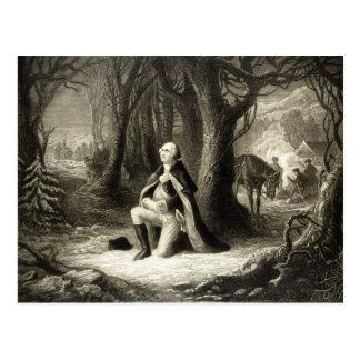 George Washington que ruega las postales