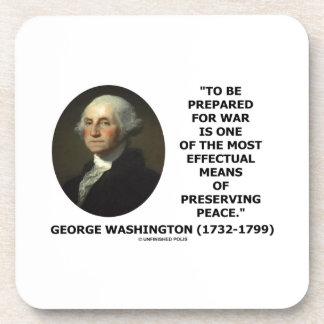 George Washington que se prepara para la cita de Posavasos De Bebida