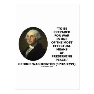 George Washington que se prepara para la cita de Tarjetas Postales