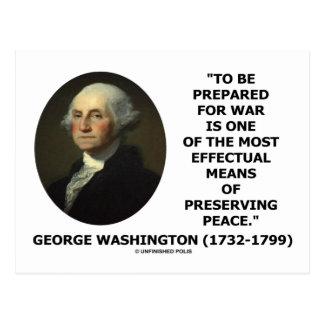 George Washington que se prepara para la cita de Postal