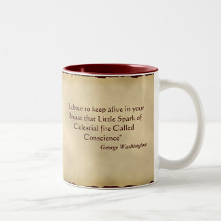 George Washington Quotation Two-Tone Coffee Mug