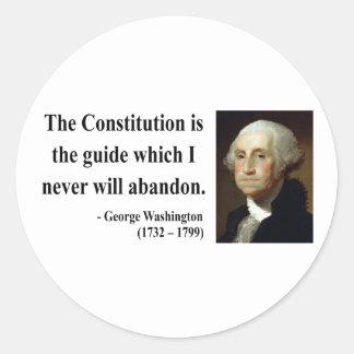 George Washington Quote 4b Round Sticker