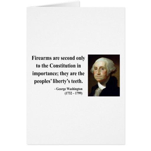 George Washington Quote 6b Greeting Card