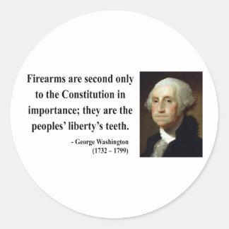 George Washington Quote 6b Round Stickers