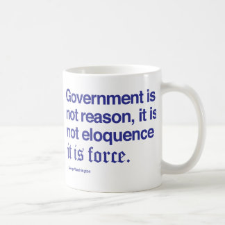 George Washington Quote Coffee Mug Blue