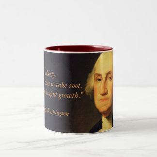 "George Washington Quote ""Liberty"" Two-Tone Coffee Mug"