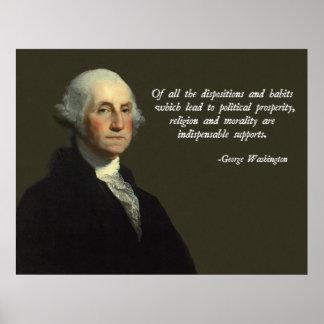 George Washington Religion and Morality Poster