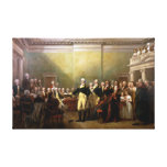 George Washington resigning. High Quality Canvas Print