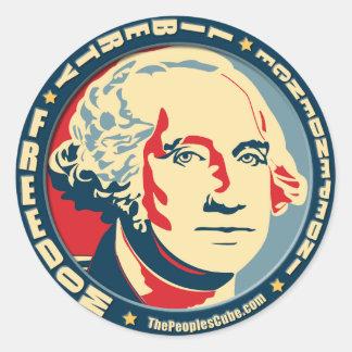 George Washington - revolución: Pegatina de OHP