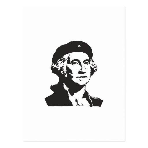 George Washington, Revolutionary - BLACK Postcard