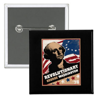 George Washington Revolutionary Mug 2 Inch Square Button